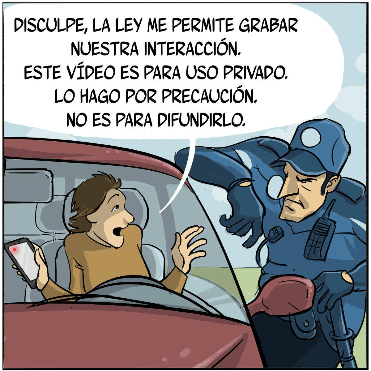 Está permitido grabar a los policías y guardias civiles.