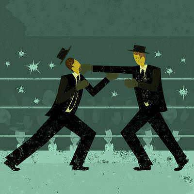 Ring de boxeo en el que nuestro personaje sale a pelear, simbolizando que ha decidido demandar a su empresa.