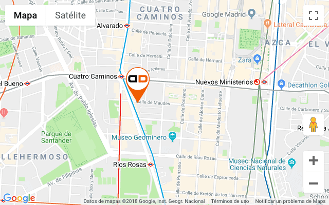 Mapa despacho Debelare Abogados Madrid