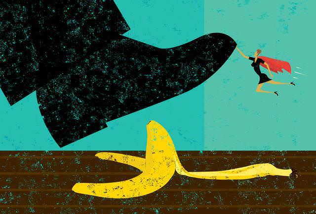 Los abogados de despidos impide que su cliente dé un resbalón.